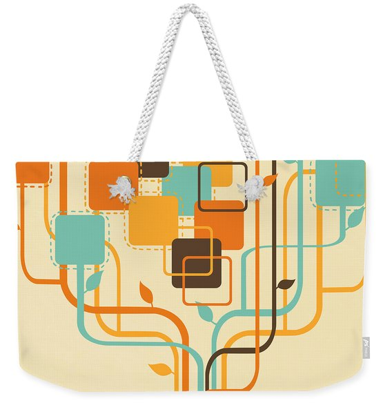 Graphic Tree Weekender Tote Bag