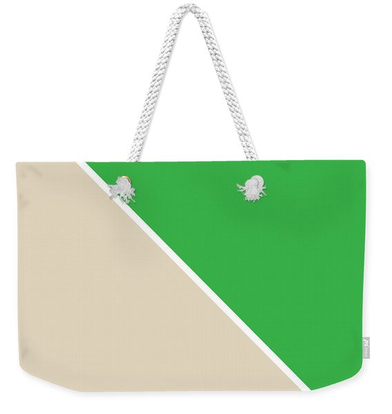 Grass And Sand Geometric Weekender Tote Bag