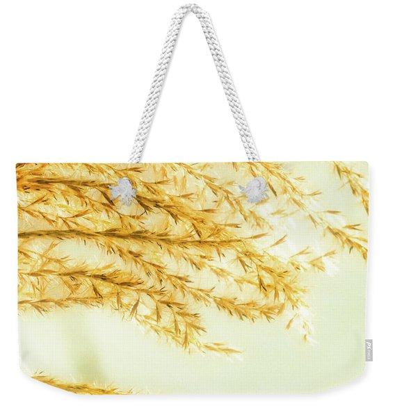 Grasses Of Gold Weekender Tote Bag