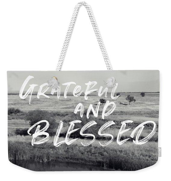 Grateful And Blessed- Art By Linda Woods Weekender Tote Bag