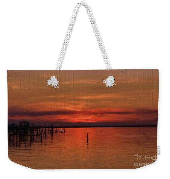 Grateful Sky Weekender Tote Bag