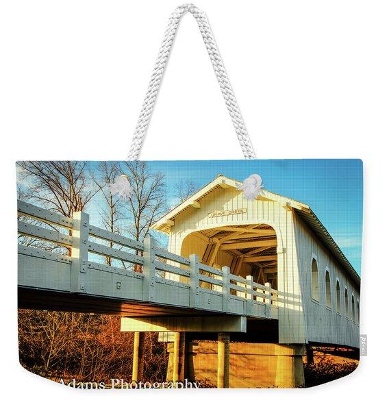 Grave Creek Covered Bridge Weekender Tote Bag