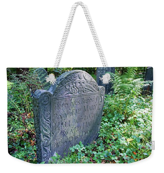 Grave Of Mary Hall Weekender Tote Bag