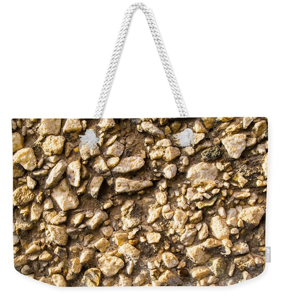 Gravel Stones On A Wall Weekender Tote Bag