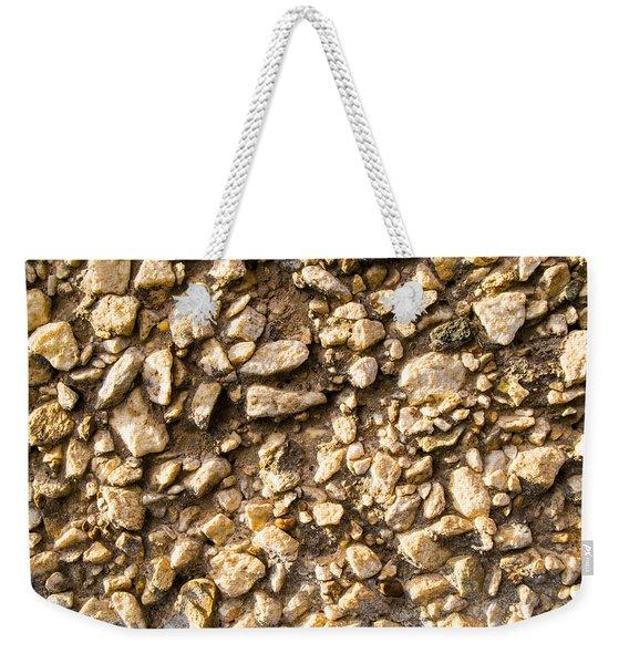 Gravel Stones On A Wall Weekender Tote Bag