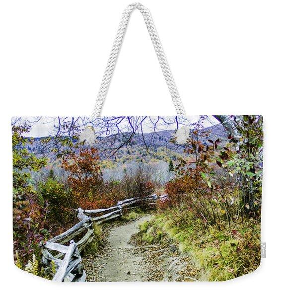 Graveyard Fields Trail Weekender Tote Bag