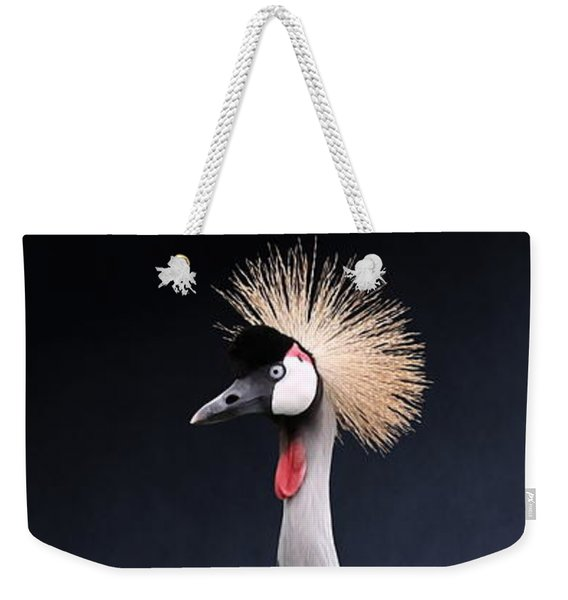Gray Crowned Crane Weekender Tote Bag