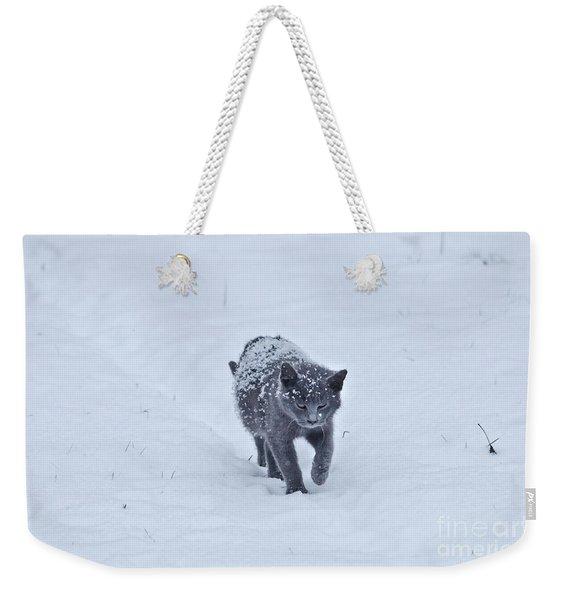 Gray On White Weekender Tote Bag