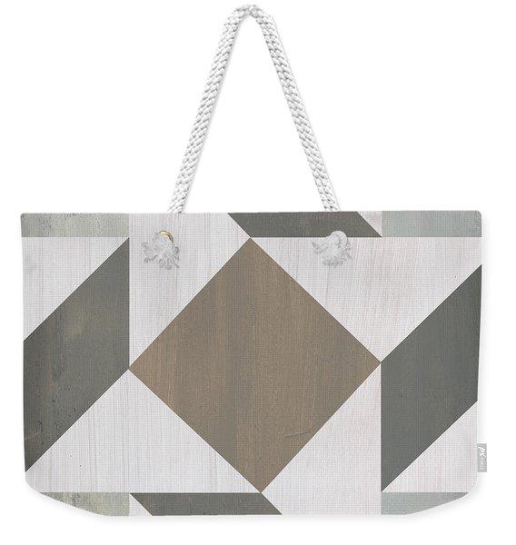Gray Quilt Weekender Tote Bag