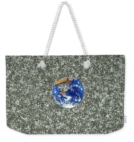 Gray Space Weekender Tote Bag