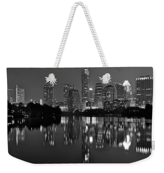 Grayscale Austin Texas Weekender Tote Bag
