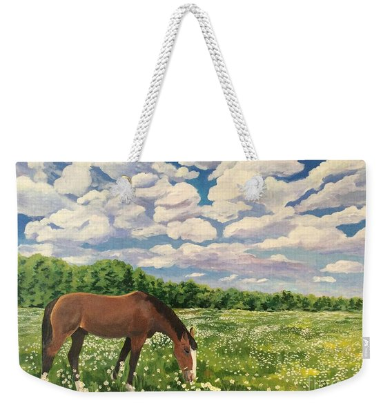 Grazing Among The Daisies Weekender Tote Bag