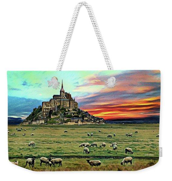 Grazing At Mont Saint Michel Weekender Tote Bag