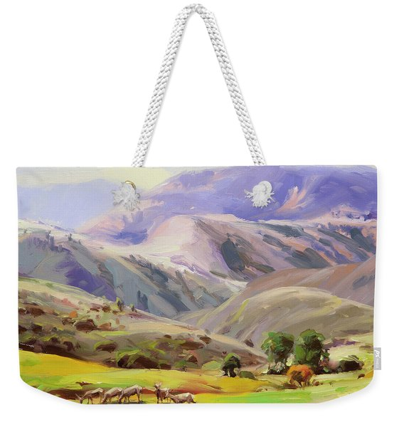 Grazing In The Salmon River Mountains Weekender Tote Bag