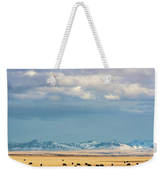 Grazing Near Highwood Weekender Tote Bag