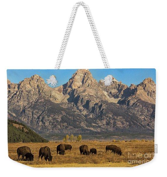 Grazing Under The Tetons Wildlife Art By Kaylyn Franks Weekender Tote Bag