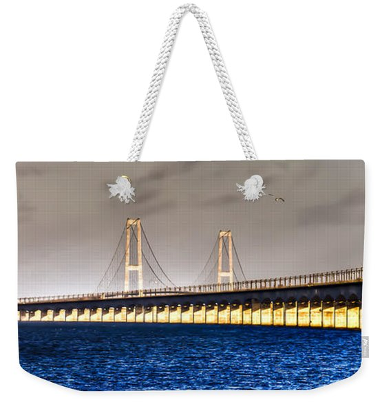 Great Belt Bridge Weekender Tote Bag
