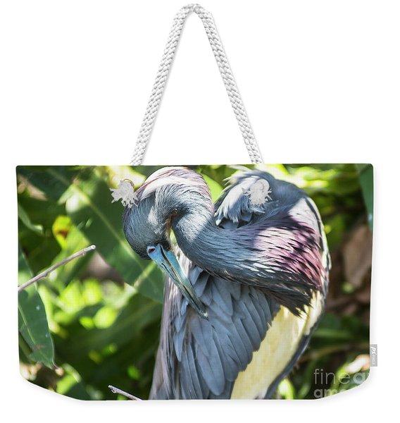 Great Blue Heron 0342 Weekender Tote Bag