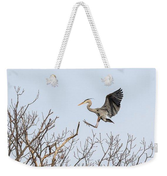 Great Blue Heron 2014-4 Weekender Tote Bag