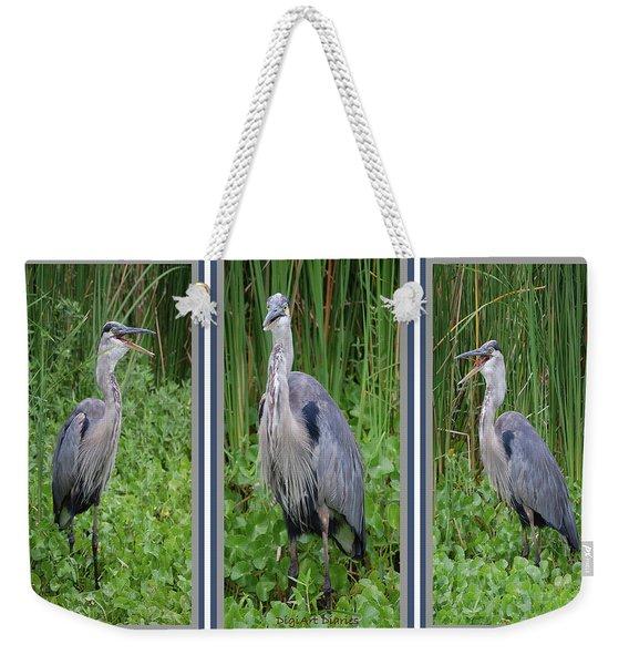 Great Blue Heron Collage Weekender Tote Bag