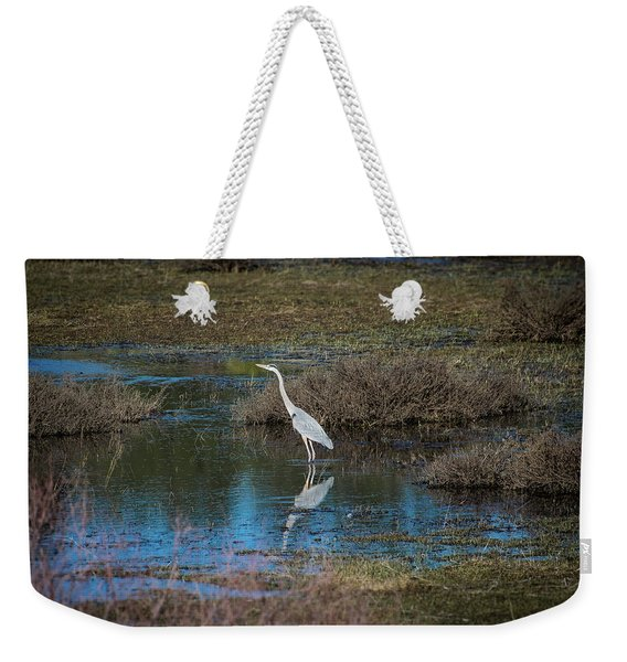 Weekender Tote Bag featuring the photograph Great Blue Heron by Jason Coward