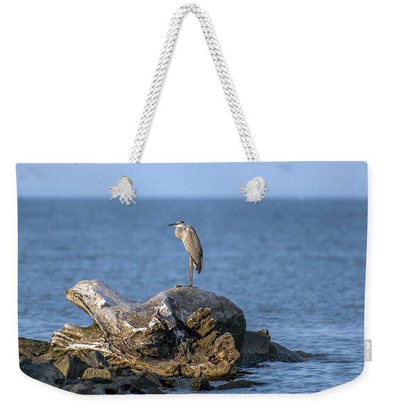 Great Blue Heron On Chesapeake Bay Weekender Tote Bag