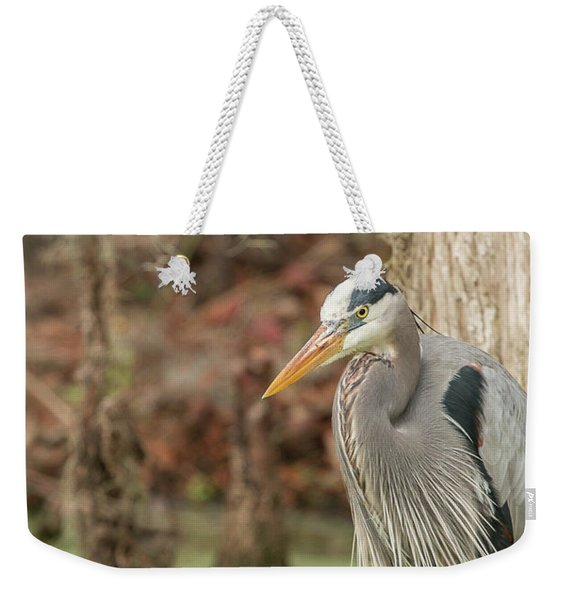 Great Blue Heron On Guard Weekender Tote Bag