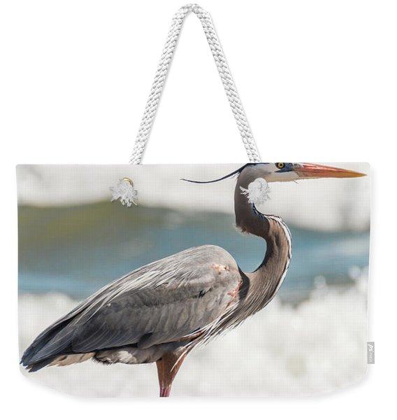 Great Blue Heron Profile Weekender Tote Bag