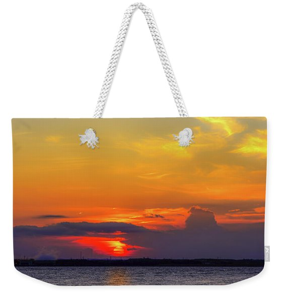 Great Blue Heron Silhouette Weekender Tote Bag