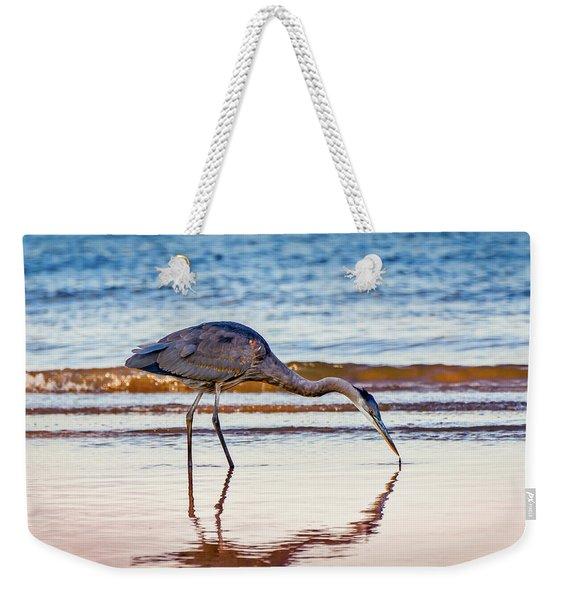 Great Blue Heron Twilight Weekender Tote Bag