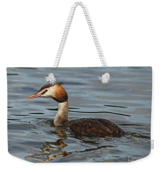 Great Crested Grebe Weekender Tote Bag