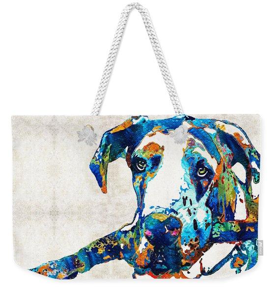 Great Dane Art - Stick With Me - By Sharon Cummings Weekender Tote Bag
