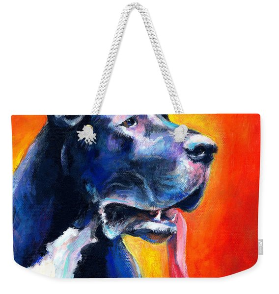 Great Dane Dog Portrait Weekender Tote Bag