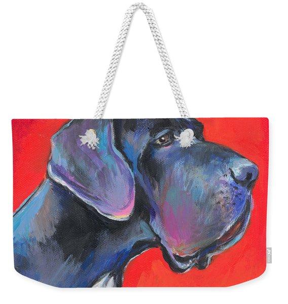 Great Dane Painting Weekender Tote Bag