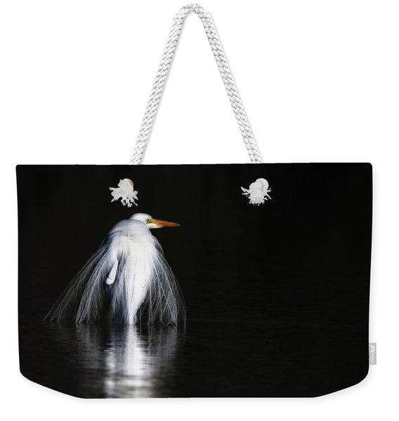 Great Egret 1035-010518-1cr Weekender Tote Bag