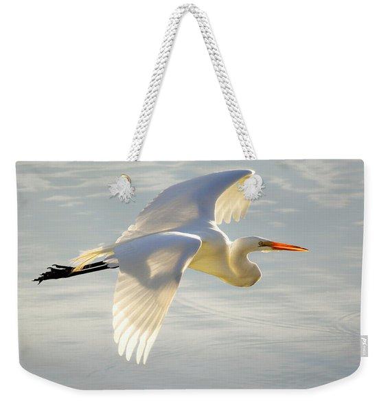 Great Egret Glow Weekender Tote Bag