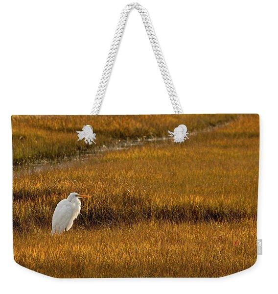 Great Egret In Morning Light Weekender Tote Bag
