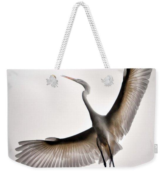 Great Egret Majesty Weekender Tote Bag