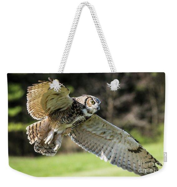Great Horned Owl-2347 Weekender Tote Bag