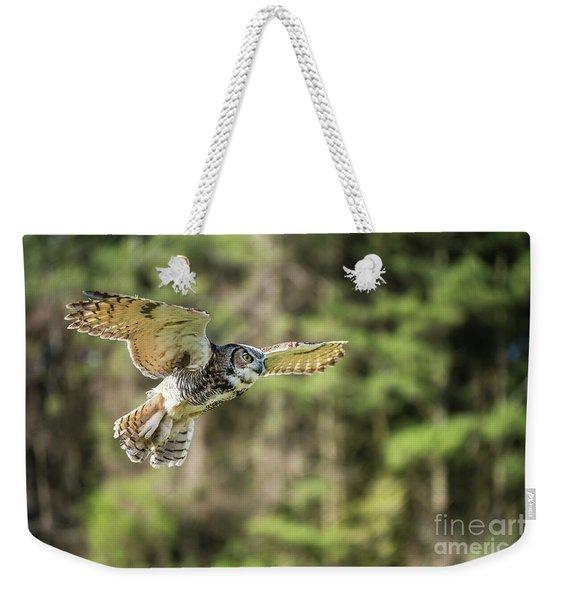 Great Horned Owl-2366 Weekender Tote Bag