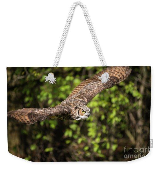 Great Horned Owl-2419 Weekender Tote Bag