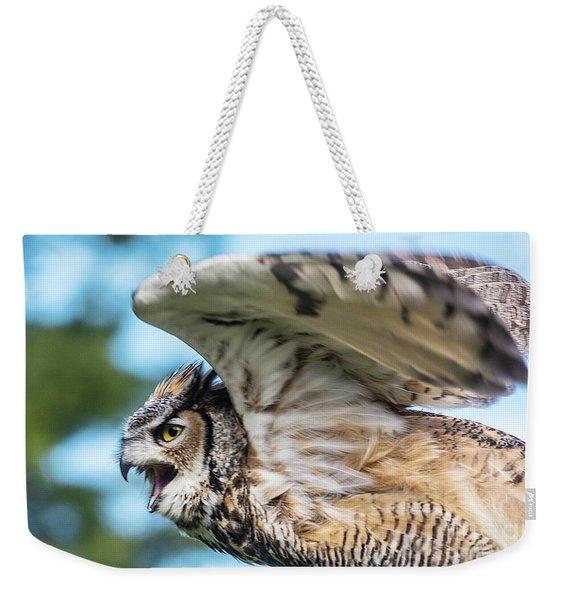Great Horned Owl-2486 Weekender Tote Bag