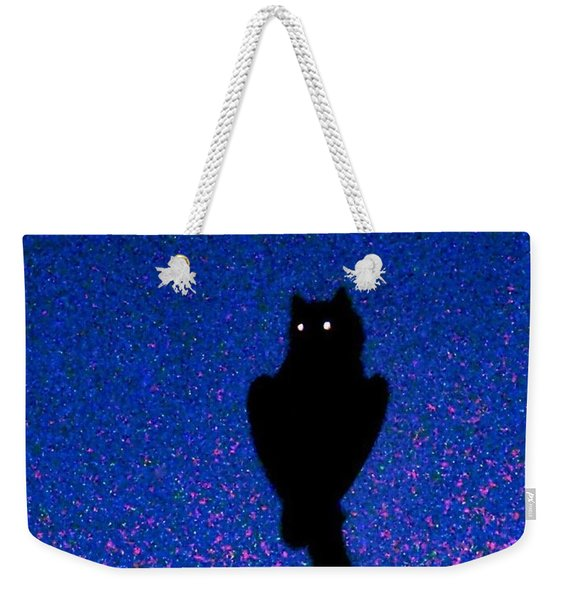 Great Horned Owl In The Desert Weekender Tote Bag