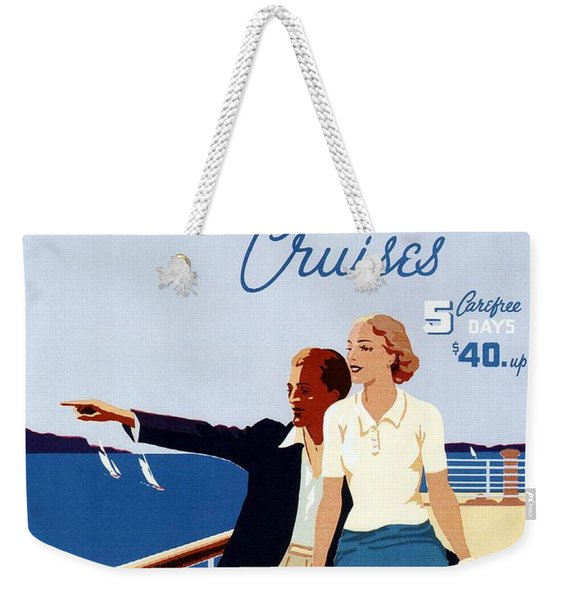 Great Lakes Cruises - Canadian Pacific - Retro Travel Poster - Vintage Poster Weekender Tote Bag