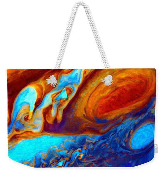 Jovian Turbulence Weekender Tote Bag