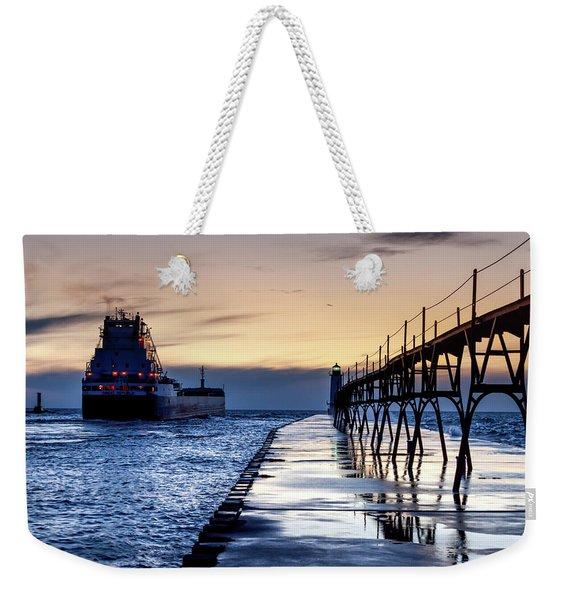 Great Republic Leaves Port Weekender Tote Bag