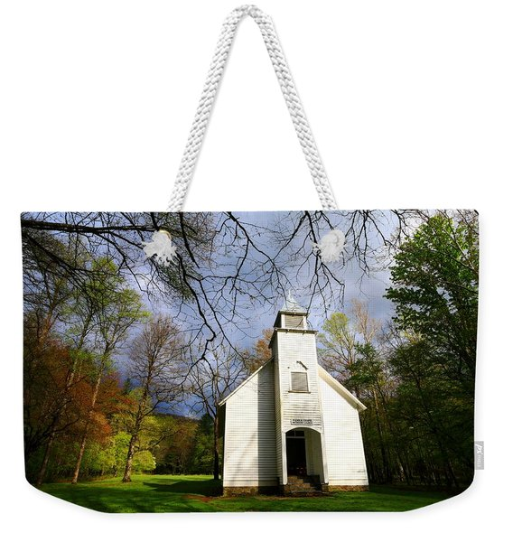 Great Smoky Mountains Spring Storms Over Palmer Chapel  Weekender Tote Bag