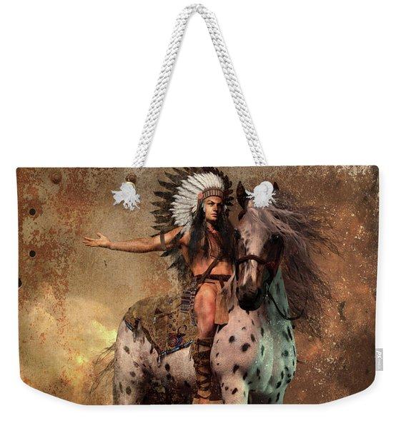 Great Spirit Chief Weekender Tote Bag