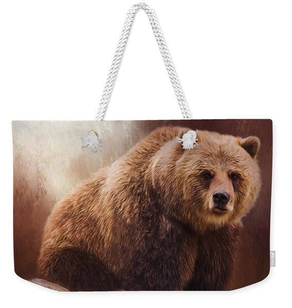 Great Strength - Grizzly Bear Art Weekender Tote Bag