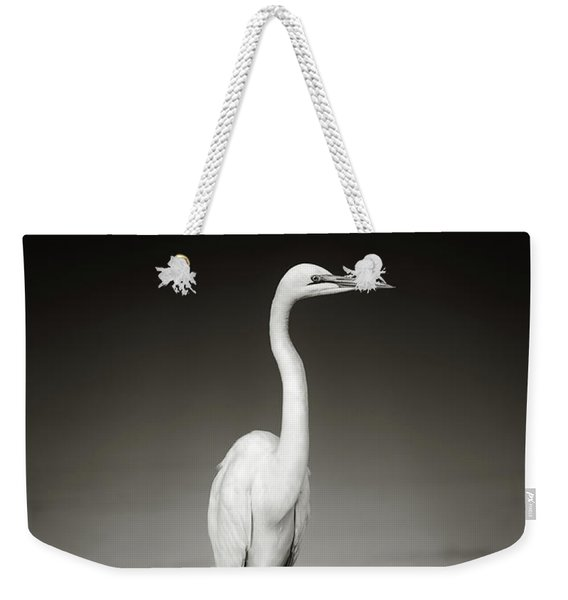 Great White Egret On Hippo Weekender Tote Bag